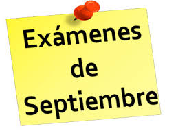 Calendario de exámenes para septiembre