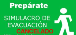 Simulacro de evacuación- CANCELADO